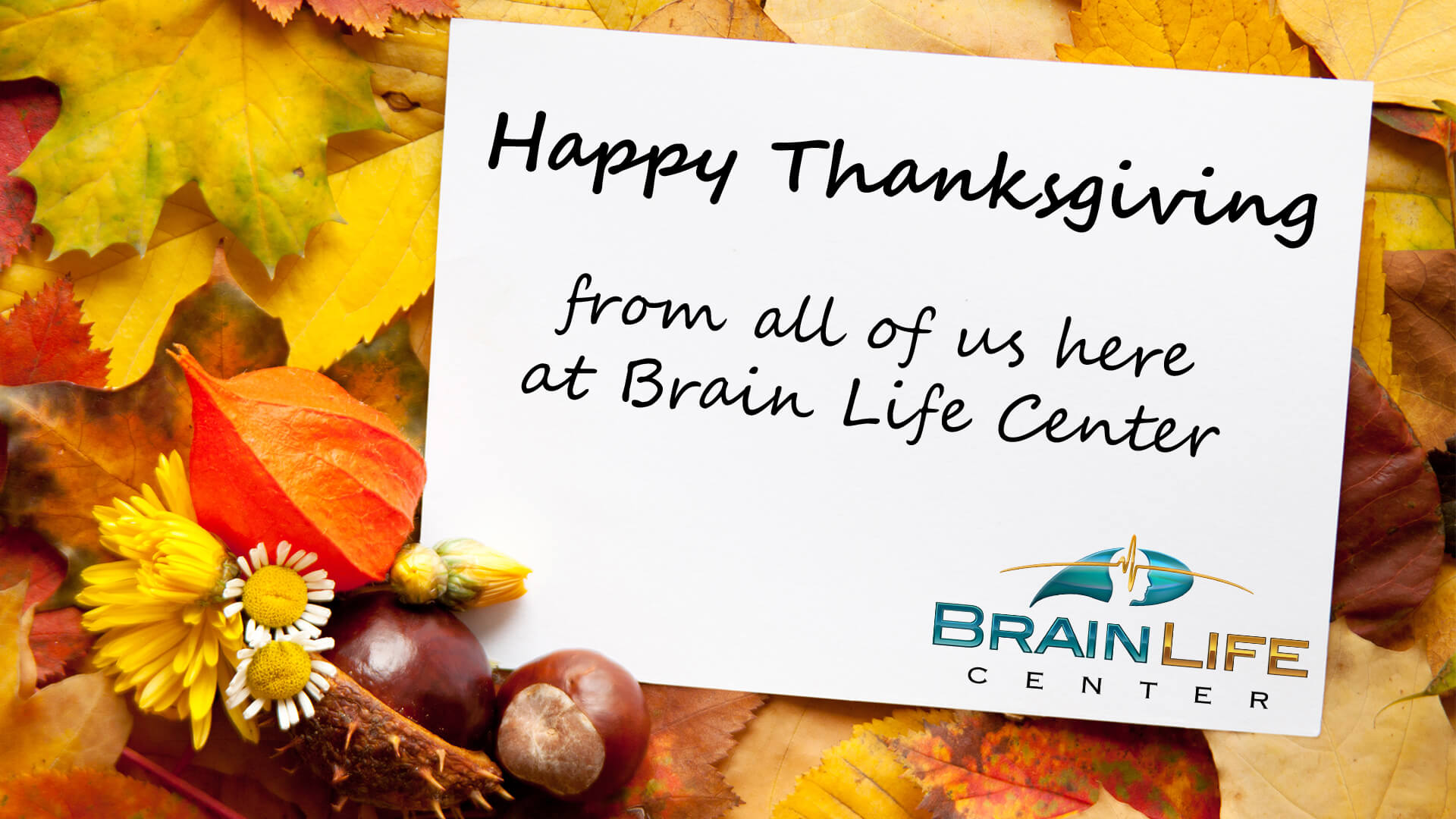 Happy Thanksgiving from Brain Life Center.